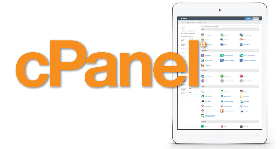 cPanel webhosting and website backend management