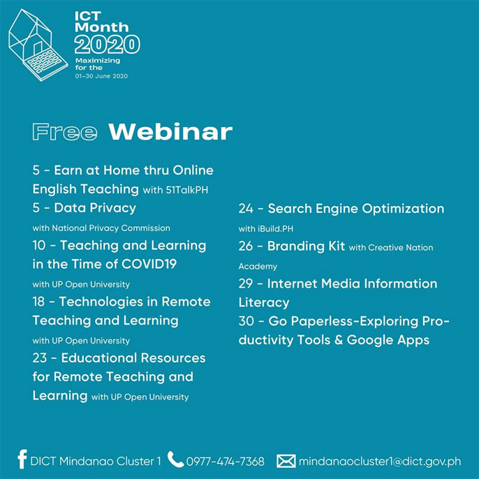 DICT Mindanao Cluster 1, Philippines to offer SEO webinar with iBuild.PH