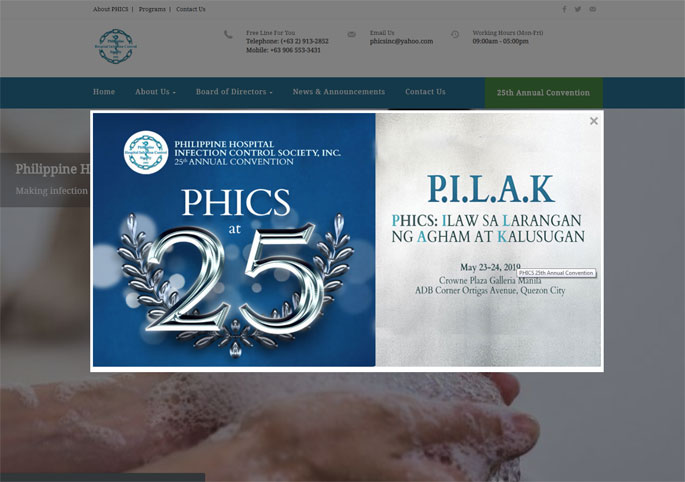 Philippine Hospital Infection Control Society (PHICS) Inc.