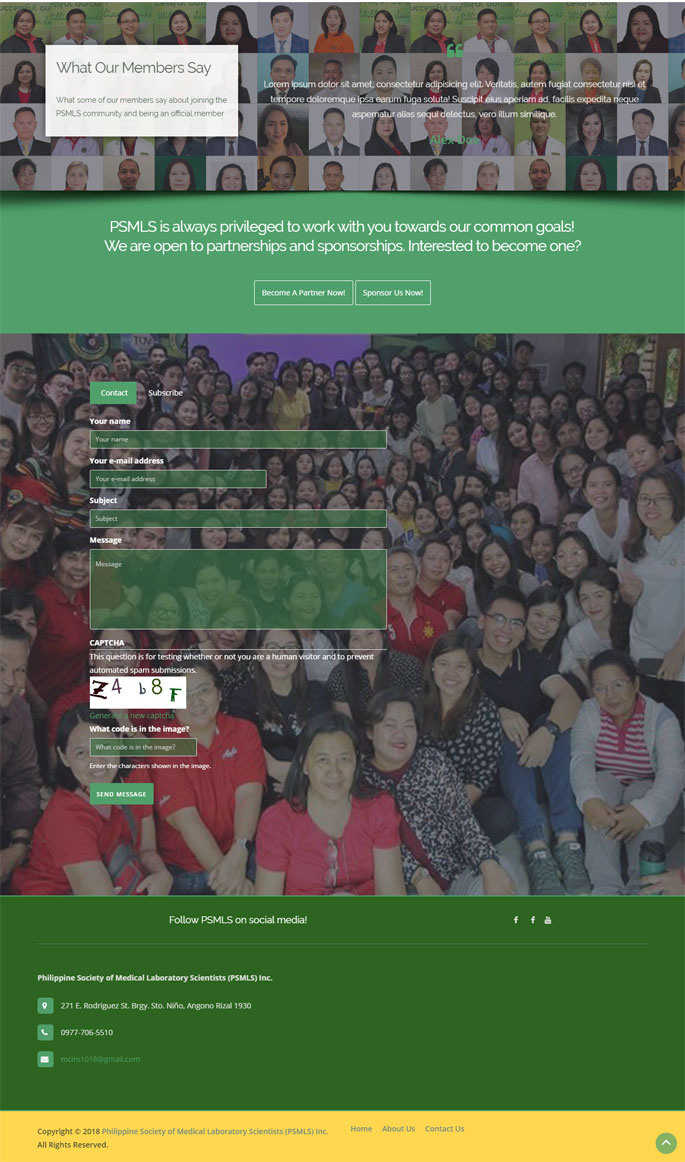 medical society website design in Metro Manila Philippines