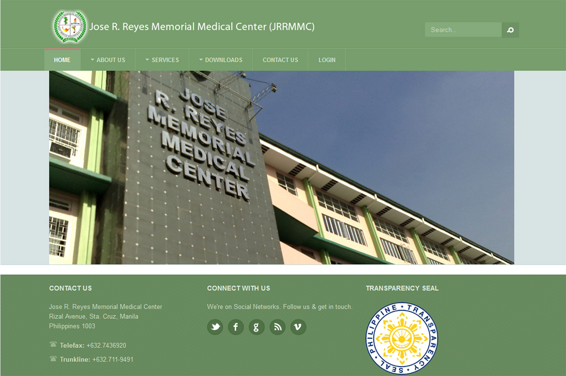 Joomla website development and design for Jose Reyes Medical Center, Hospital, Manila, Philippines