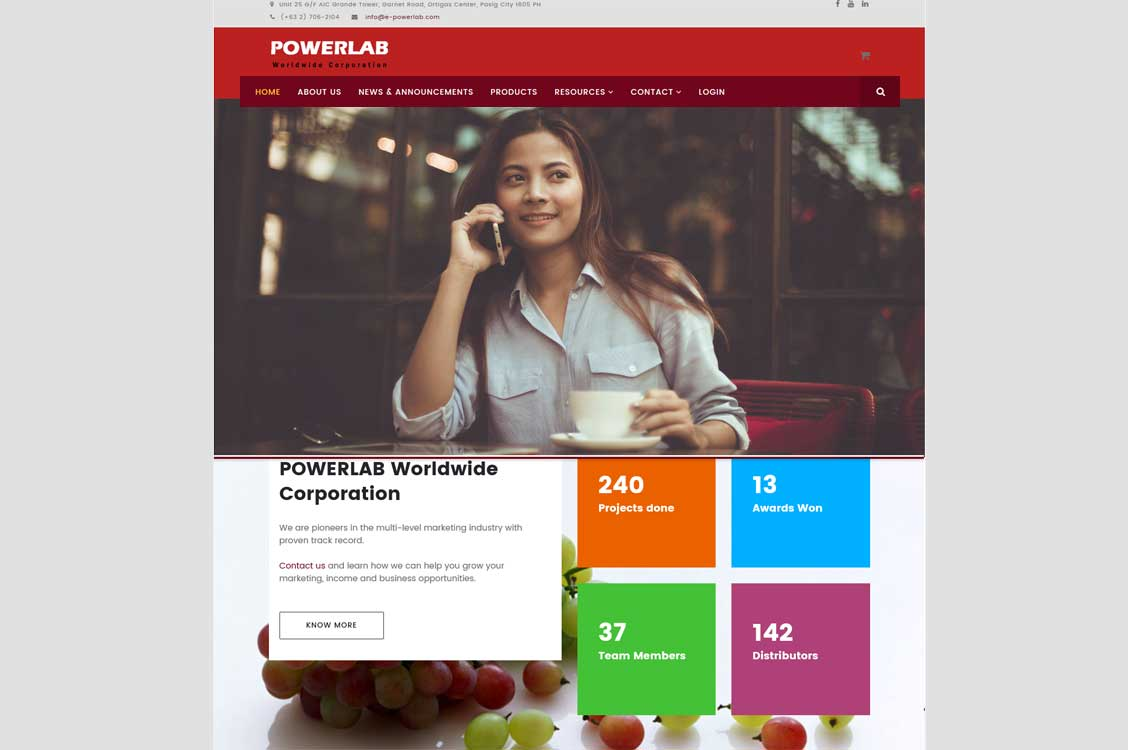 POWERLAB Marketing Joomla website