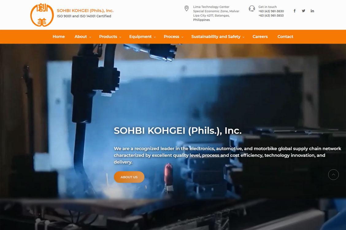 SOHBI KOHGEI (Phils.) launches new website designed and developed on Drupal platform