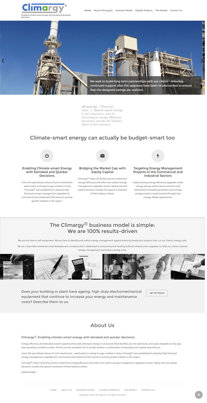 website design for energy efficiency business